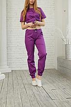 Практичные коттоновые женские медицинские брюки с карманами 42-64