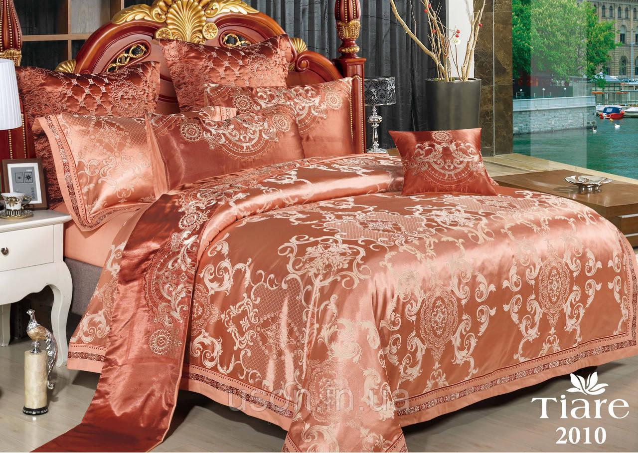 Комплект  постельного белья сатин жаккард Тиара Tiara семейный размер 2010