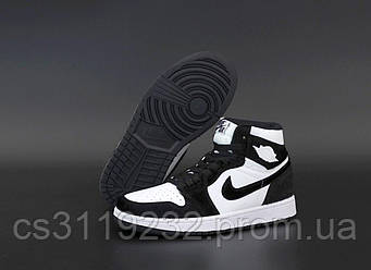 Женские кроссовки Air Jordan 1 RETRO (черный/белый)