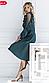 Зеленое плиссированное платье с сетчатыми вставками, фото 4