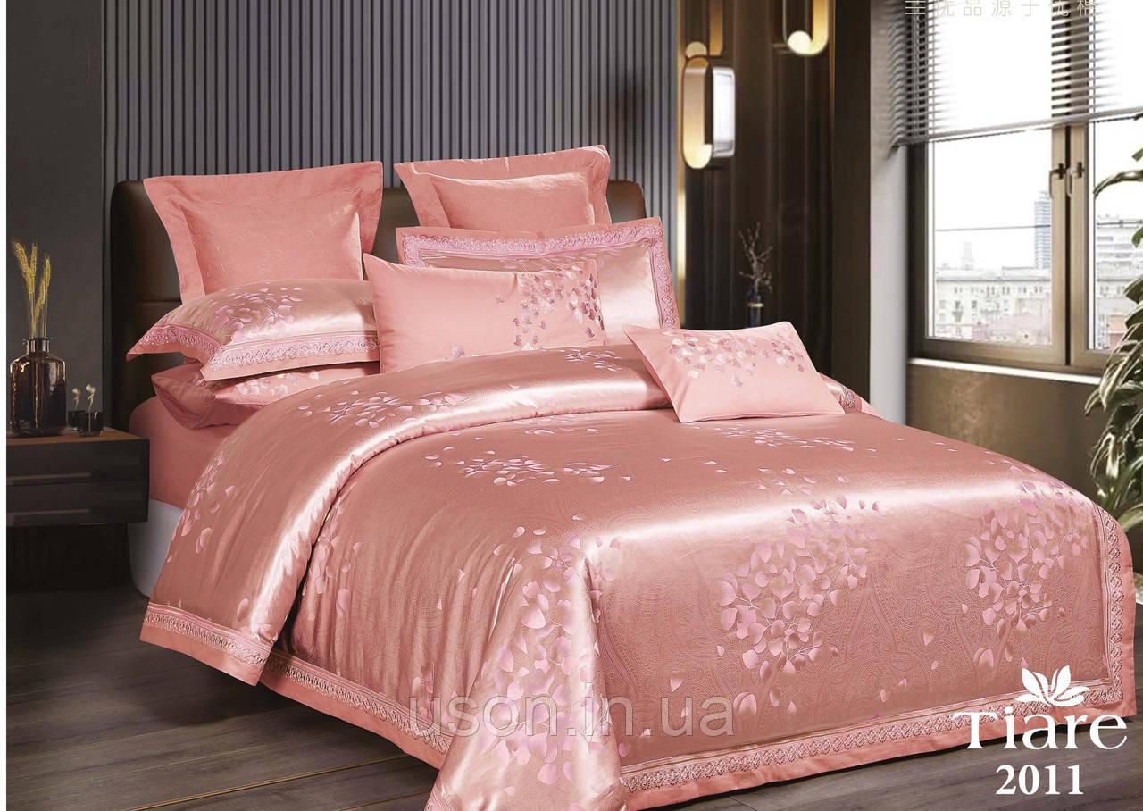 Комплект  постельного белья сатин жаккард Тиара Tiara семейный размер 2011
