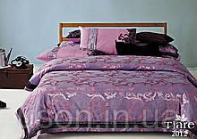 Комплект  постельного белья сатин жаккард Тиара Tiara семейный размер 2012