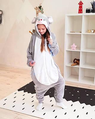 Кигуруми Мышка -  Взрослые кигуруми - Пижама для взрослых, пижама теплая