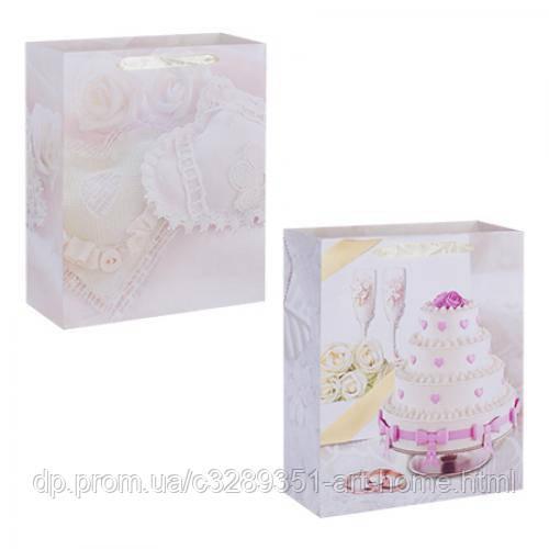 Пакет подарочный Stenson Wedding cake R-16102 18х23 см 12 шт/уп