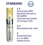 Труба 20Х2 металлопластиковая Henco STANDARD (PE-Xc/Al0,4/PE-Xc) Бельгия ОРИГИНАЛ (100-200216), фото 2