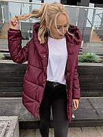 """Зимняя куртка женская """"зефирка"""" удлиненная (Норма)"""
