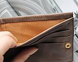 """Мужской кошелек из натуральной кожи """"Borsa"""" коричневый, фото 5"""