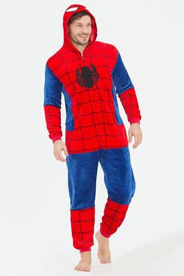 """Кигурумі - """"Людина Павук (Spidermen)"""" - на змійці - Дорослий костюм"""
