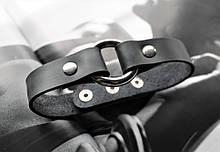 Женский кожаный чокер черный