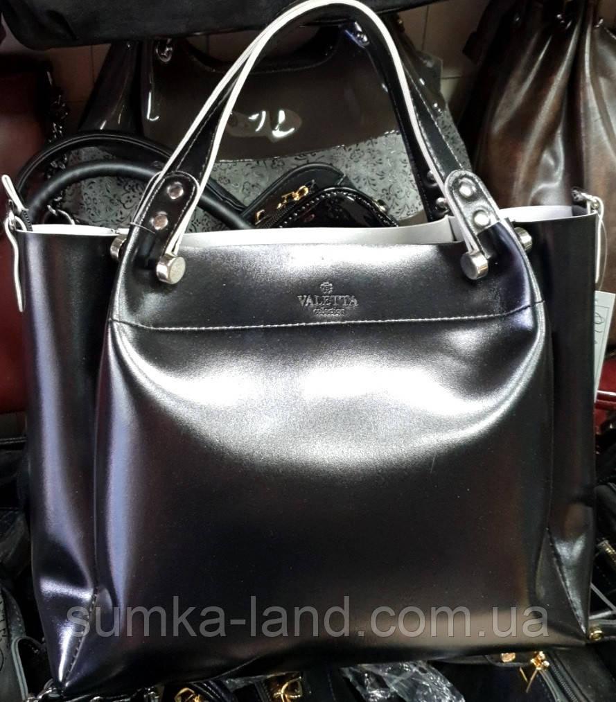 Женские сумки из искусственной кожи на змейке 32*27 см