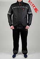 Мужской спортивный костюм Bogner Батал (7245-1), плащевка, турция, осенний весенний, реплика, Черный