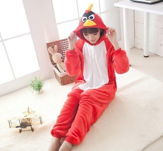 Взрослый Кигуруми - Энгри Бердс - пижама взрослая, пижама теплая серия Premium Velsoft