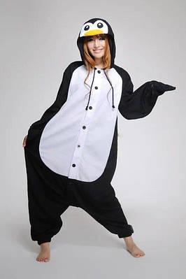 Взрослый Кигуруми - Пингвин- пижама взрослая, пижама теплая серия Premium Velsoft