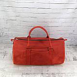 Дорожная сумка tube красная из натуральной кожи crazy horse, фото 2