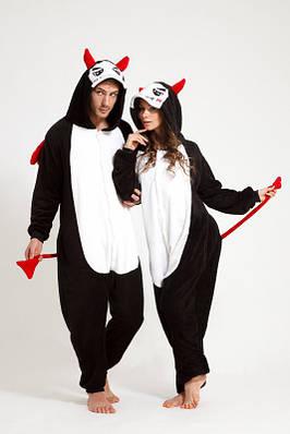 Взрослый Кигуруми - Черт - пижама взрослая, пижама теплая серия Premium Velsoft