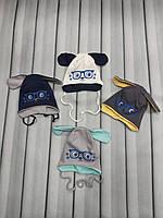 Шапка детская на завязках для мальчика, фото 1