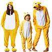 Взрослый Кигуруми - Желтый медведь - пижама взрослая, пижама теплая серия Premium Velsoft, фото 4