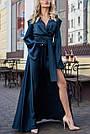 Изумрудное вечернее платье шёлковое, фото 2