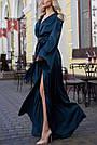 Изумрудное вечернее платье шёлковое, фото 3