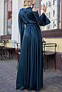 Изумрудное вечернее платье шёлковое, фото 4