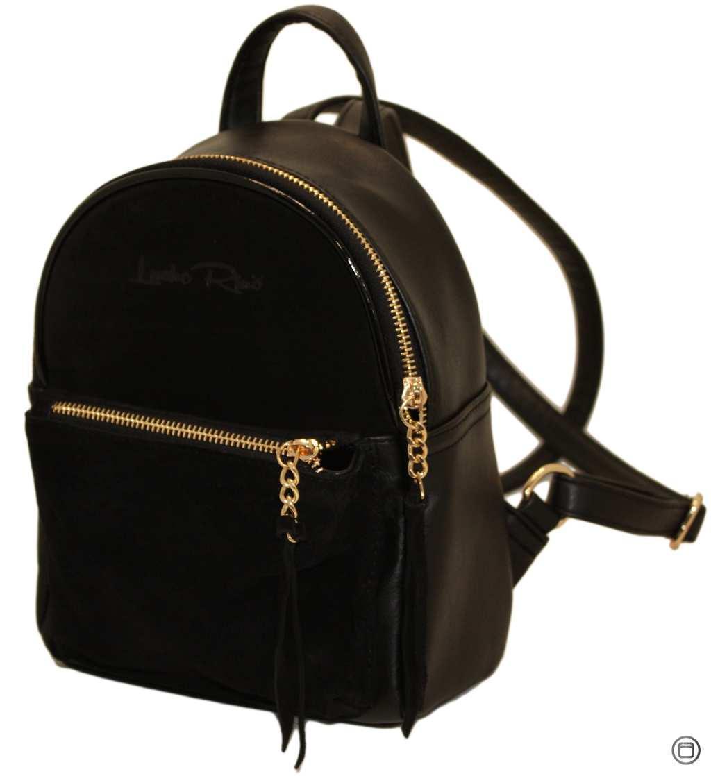 Женский рюкзак Case 407 черная замш з