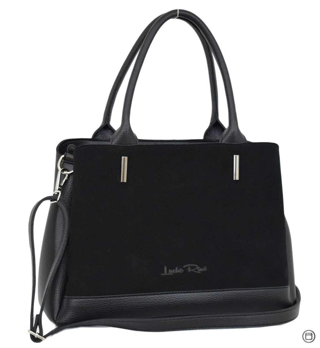 Классическая женская сумка Case 627 замш черная