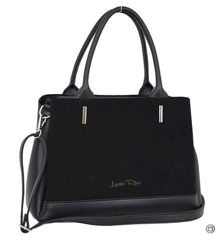Классическая женская сумка Case 627 замш черная, фото 2