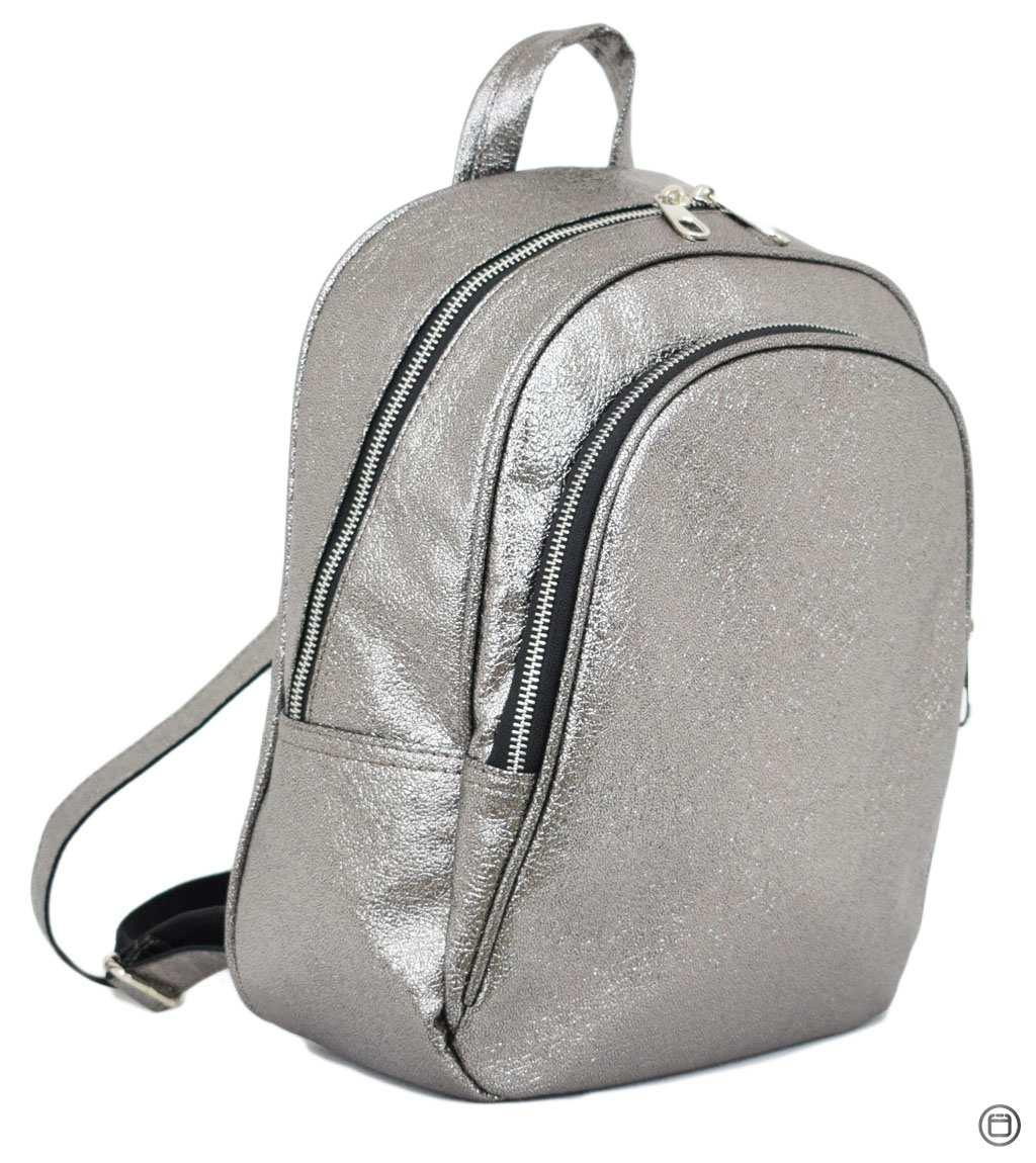 Женский рюкзак Case 600 серебро н