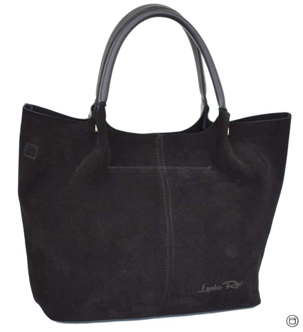 Женская сумка Case 520 замш черная н