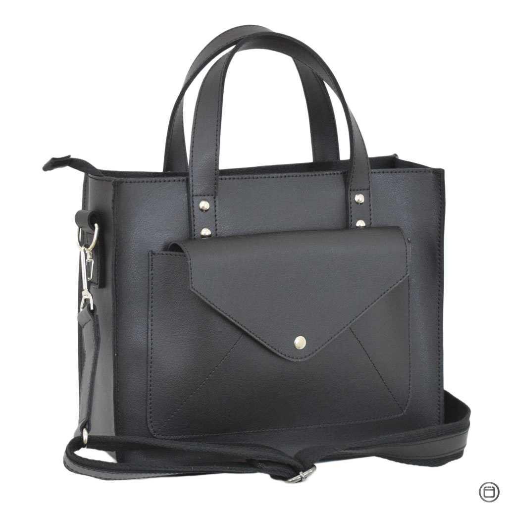 Женская сумка из натуральной кожи Case 630 черная