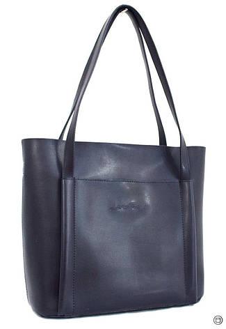 Женская сумка кожзам Case 550 синяя н, фото 2