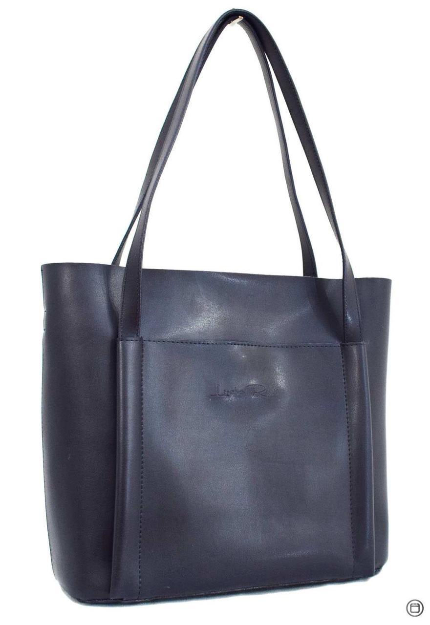Женская сумка кожзам Case 550 синяя н