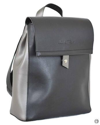 Женский рюкзак экокожа Case 608 черний серебро, фото 2