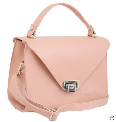 Женская сумка кожзам Case 572 пудра н, фото 2