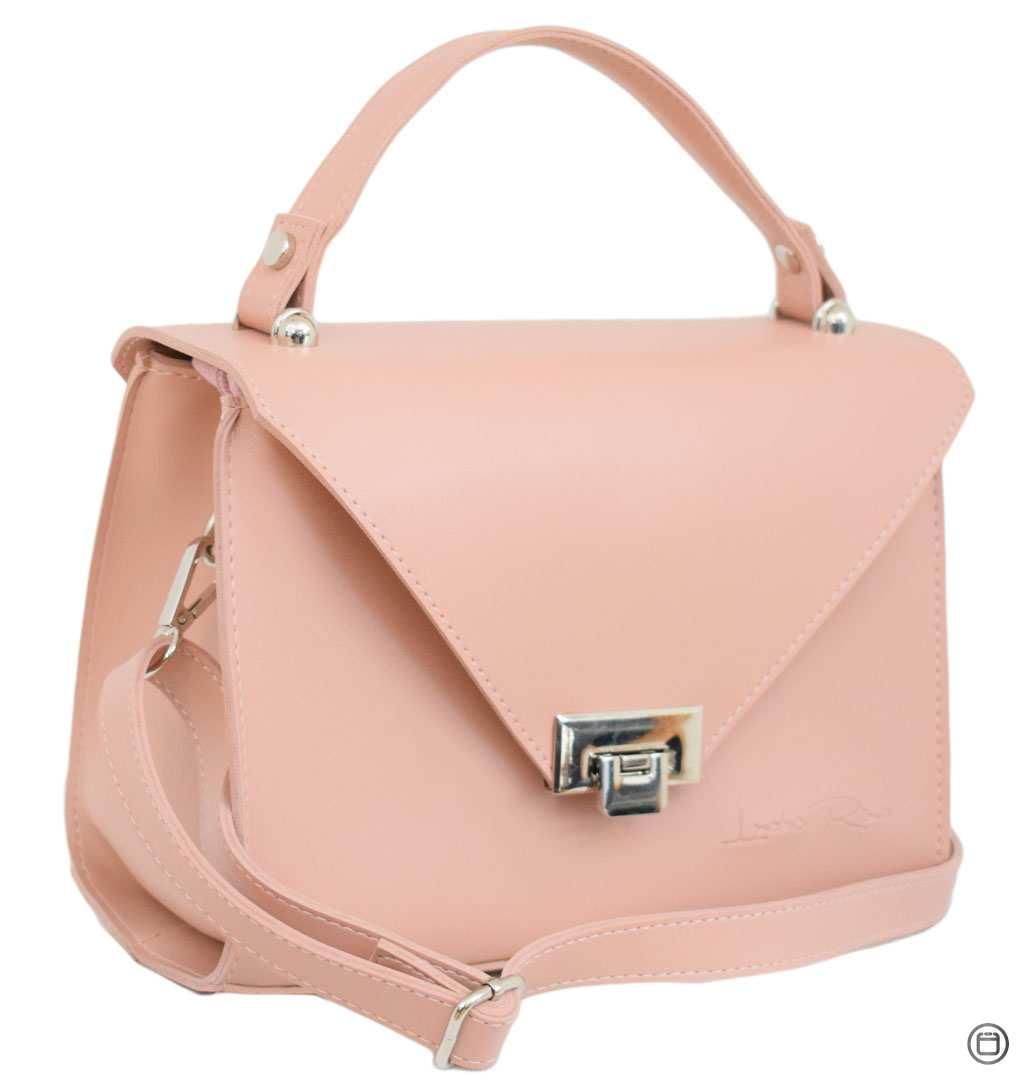 Женская сумка кожзам Case 572 пудра н