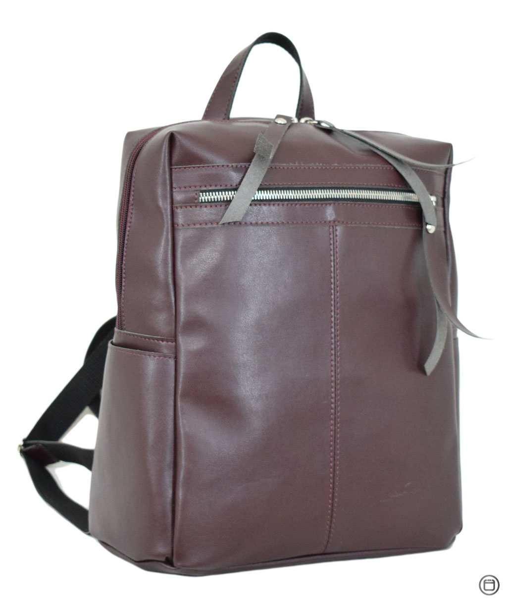 Женская сумка -рюкзак кожзам Case 656 бордо