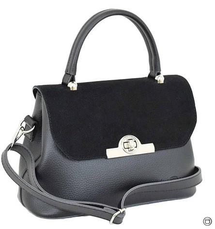 Женская сумка из кожзама Case 622 замш черная, фото 2