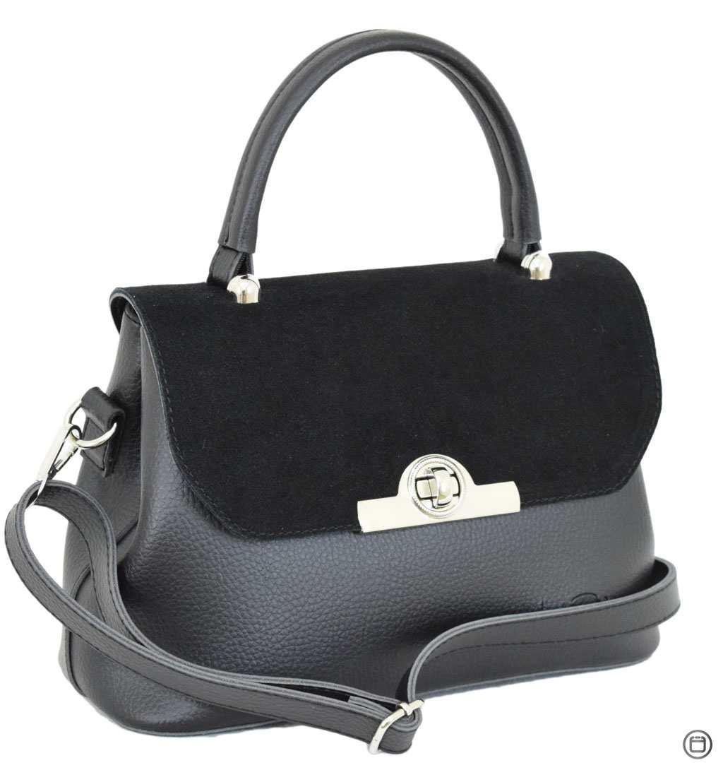 Женская сумка из кожзама Case 622 замш черная