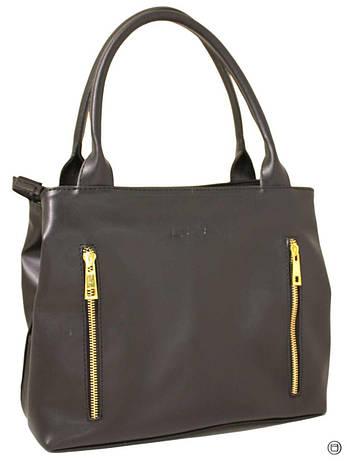 Жіноча сумка зі шкірозамінника Україна 507 чорна г, фото 2