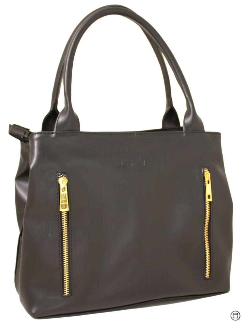 Жіноча сумка зі шкірозамінника Україна 507 чорна г