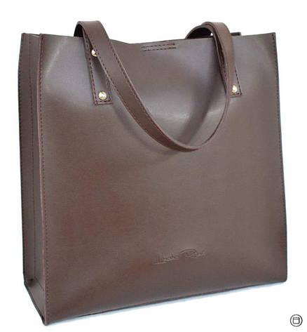 Женская сумка из экокожи Case 532 шоколад н, фото 2