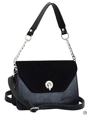 635 сумка чорна замша, фото 2