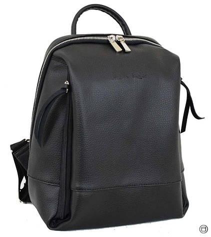 Женский рюкзак кожзам Case 606  черный, фото 2