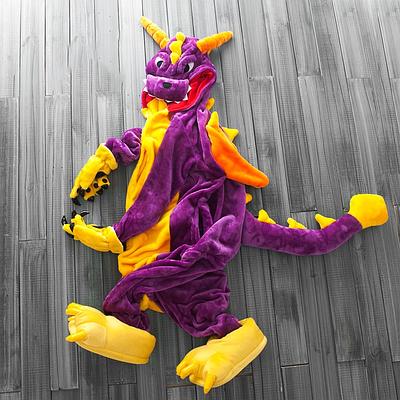 Кигуруми - Фиолетовый Дракон детский - серия Premium Velsoft