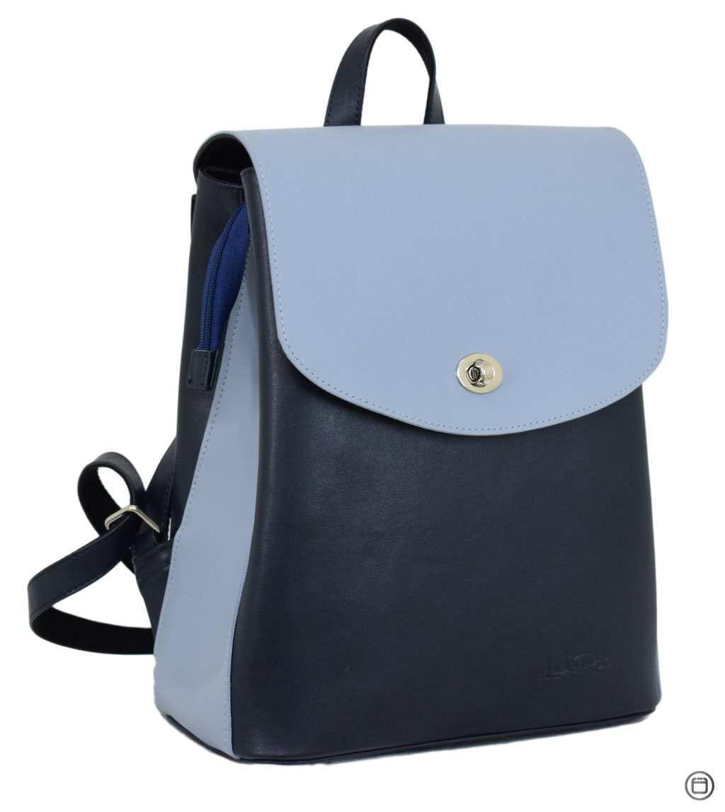Жіночий рюкзак кожзам Case 647 синій блакитний