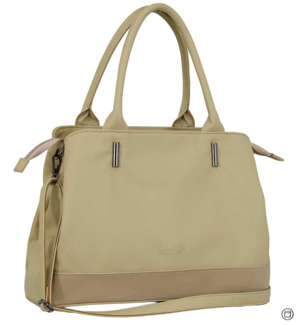 Класична жіноча сумка 627 беж лак беж