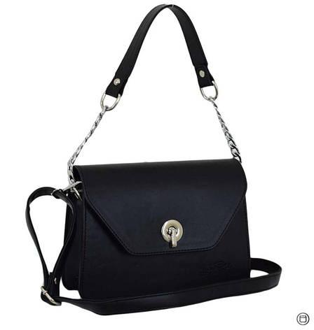 Женская сумка кожзам Case 635 черная г, фото 2