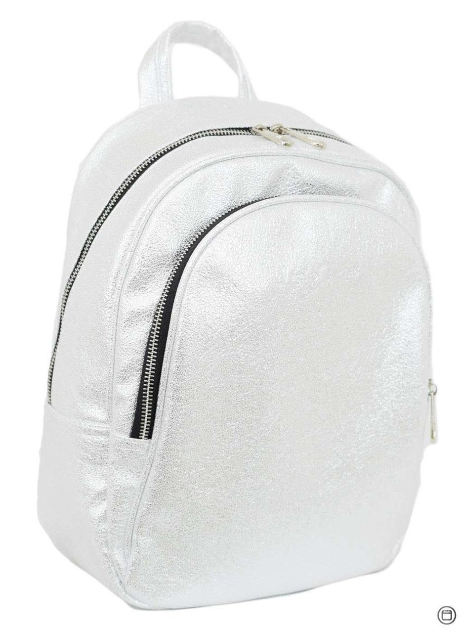 Удобный женский рюкзак Case 600 серебро светлое н