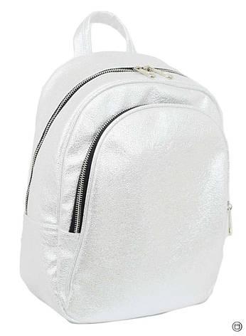 Удобный женский рюкзак Case 600 серебро светлое н, фото 2