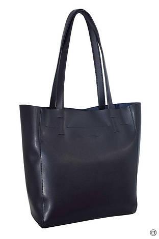 Женская сумка-шоппер кожзам Case 518 синяя, фото 2